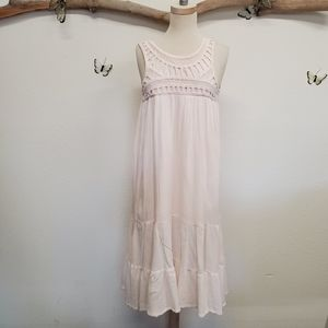 H&M conscious collection pale pink crochet gown